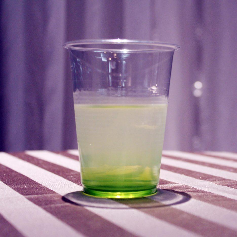 大阪会場-09 osaka   焼酎甲類をグラス1/3程度注ぐ 氷を2~3個入れる グレープフルーツジュースを1/3程度注ぐ グリンティーリキュール適量    焼酎:樹氷 グリーンティリキュール グレープフルーツジュース